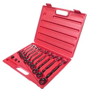 Набор ключей комбинированных трещоточных 8-19мм 13 предметов в кейсе JTC-3028